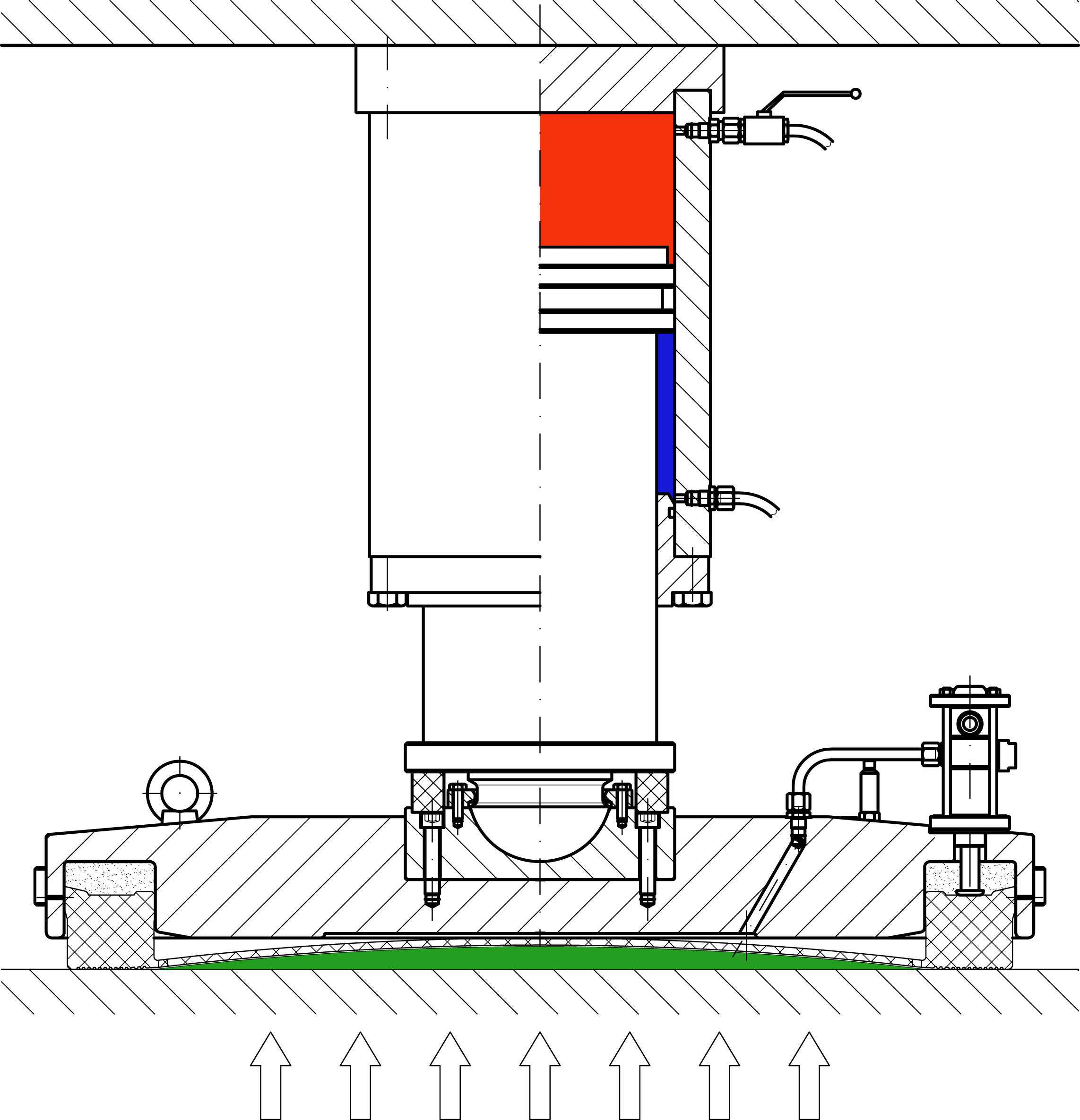 Hebetec Equipment Sliding Hydraulic Jack Diagram After Taking Over Of Load By The Cylinders Chambers Support Plate Are Inflated With Compressed Air